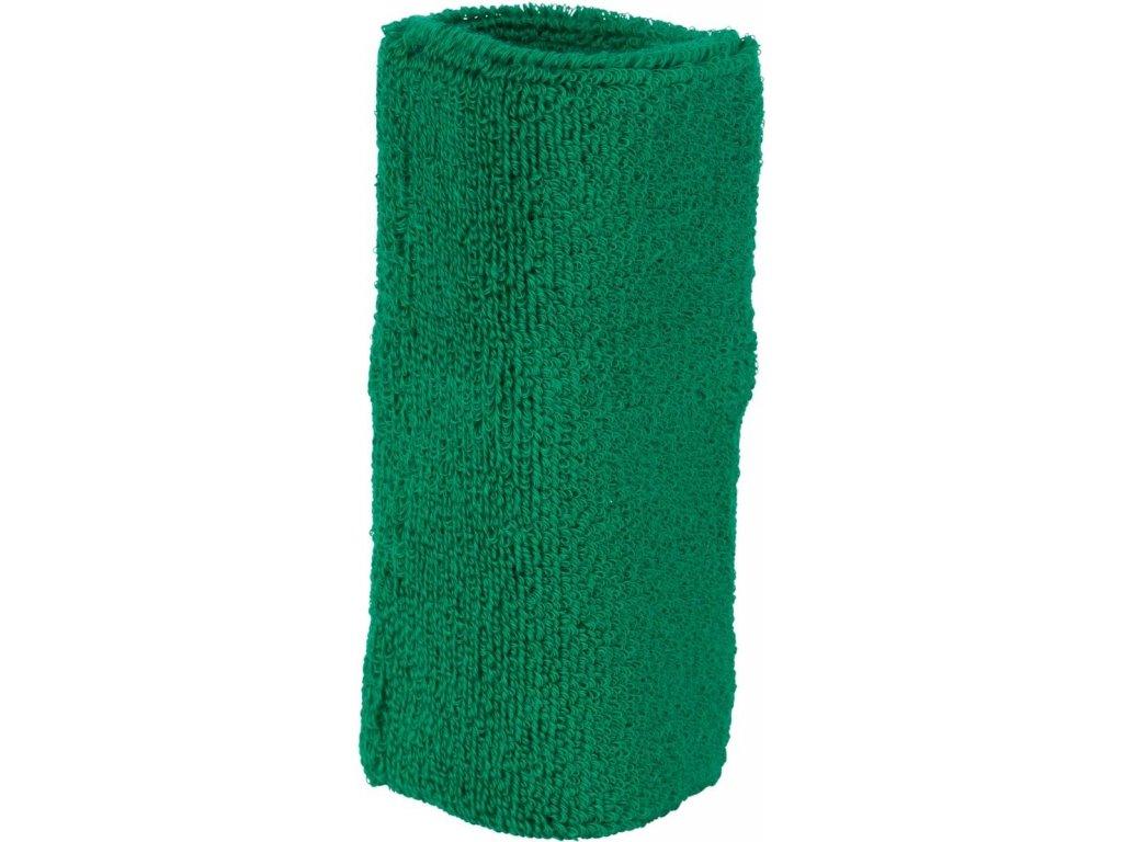 Sportovní extra široké froté potítko na ruku zelená