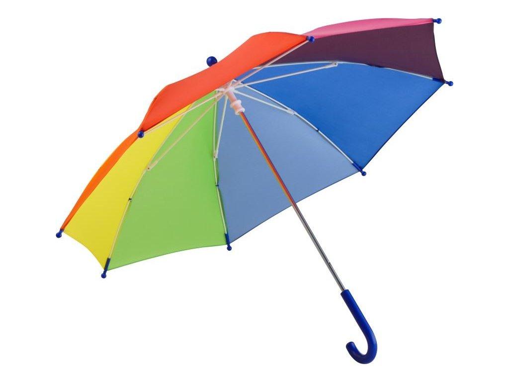 Dětský holový deštník se systémem windproof duhový
