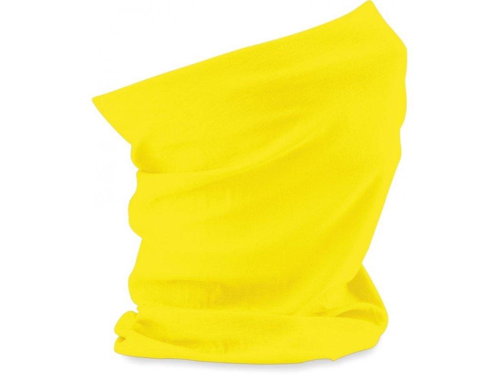Prodyšný multifunkční nákrčník, šátek žlutá