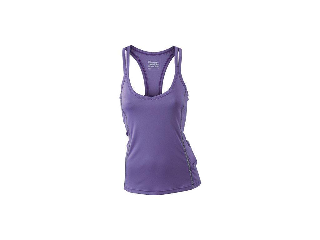 Dámské běžecké tílko Runnig Reflex Top se stříbrem ve tkanině (Barva Bílá - černá, Velikost oděvů XXL)