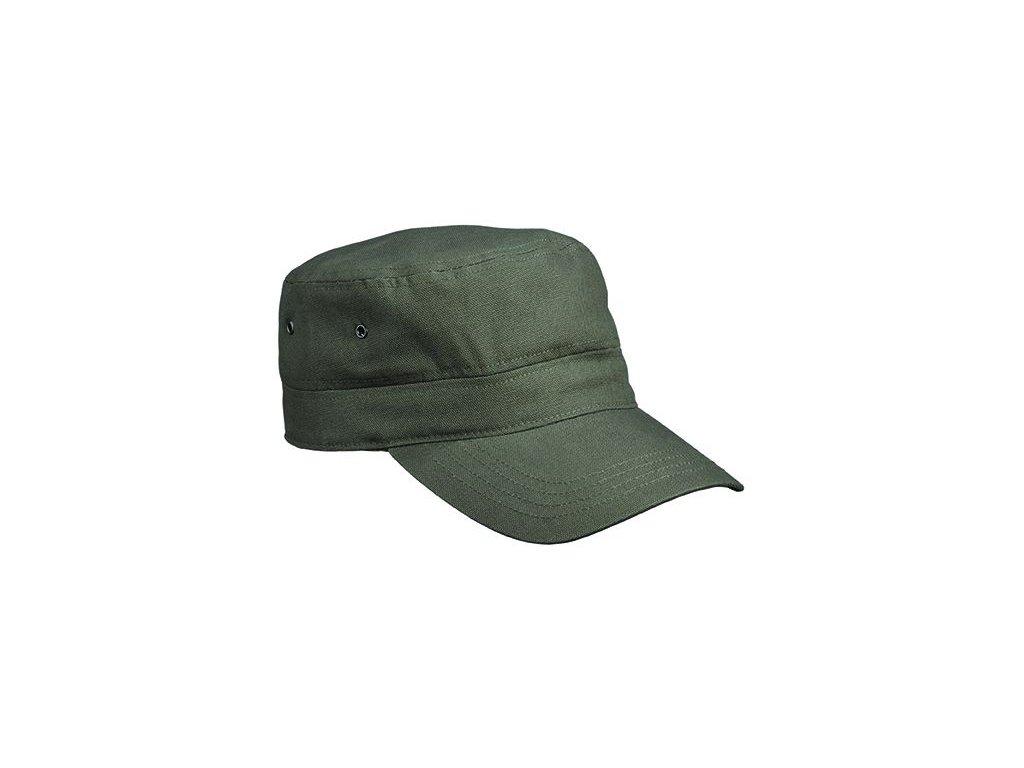 čepice ve vojenském stylu z odolné bavlny  khaki