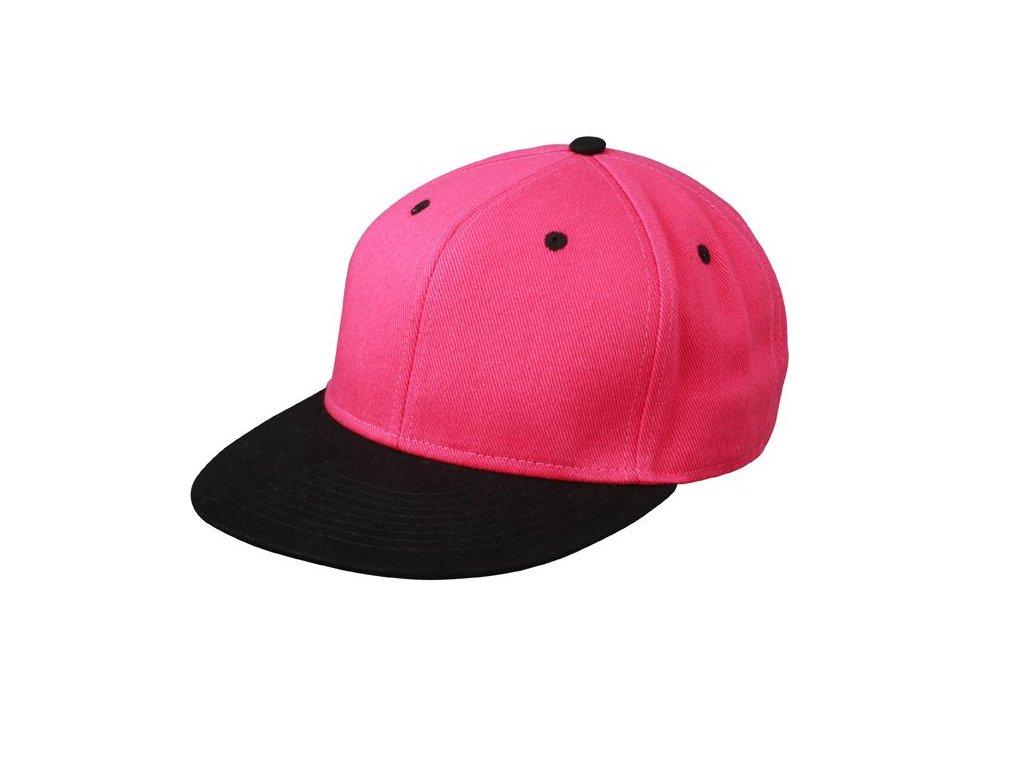 ... Kšiltovka s rovným kšiltem Snapback růžová černá ... bd4f4d6632