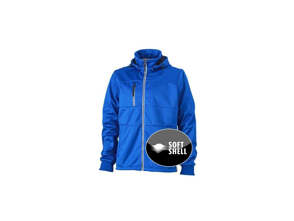Pánská módní softshellová bunda v designu pro yachting modrá královská