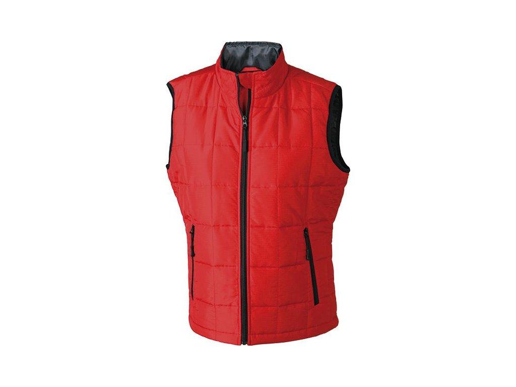 Dámská vesta Padded L Weight Vest (Barva Červená - černá, Velikost oděvů XXL)
