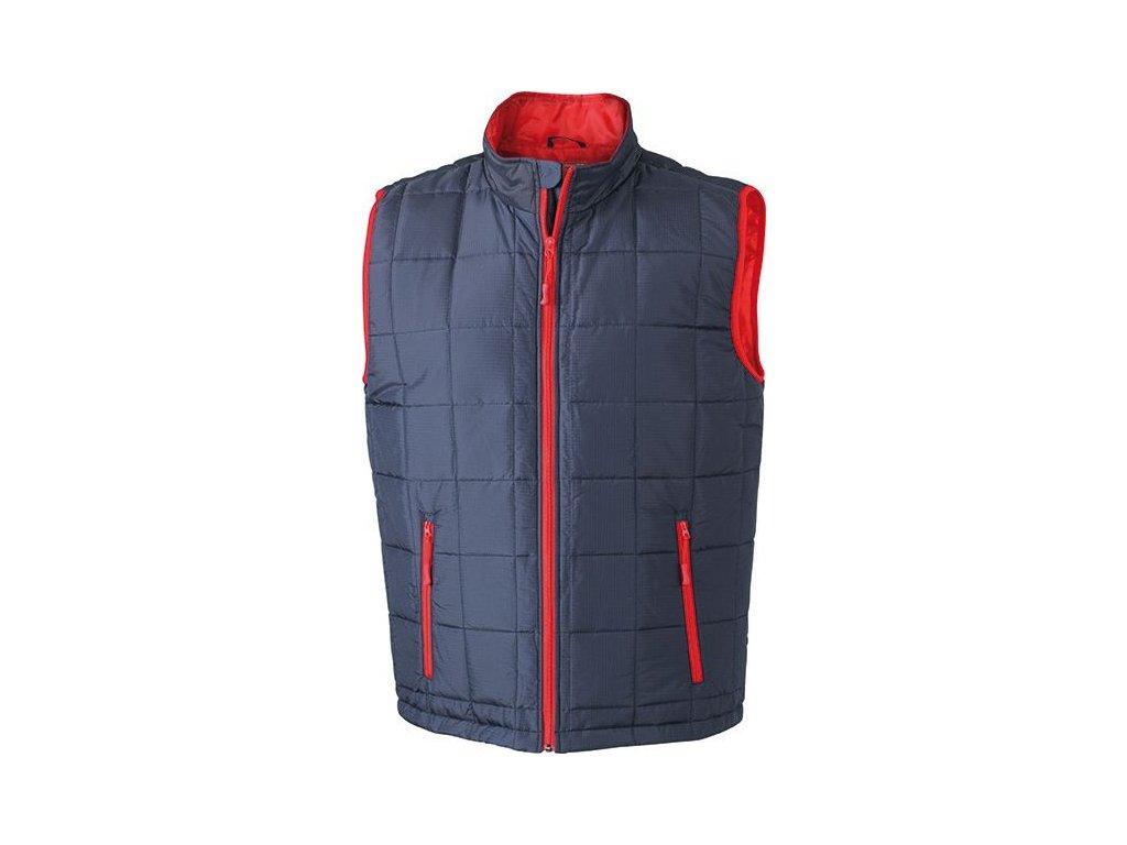 Lehká pánská polstrovaná vesta na zip s teplým materiálem Thinsulate TM 3M modrá námořní