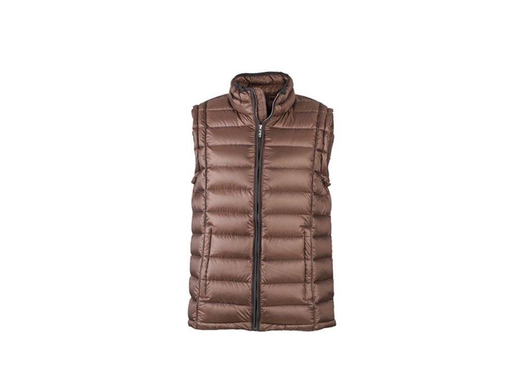 Pánská vesta Quilted Down Vest (Barva Červená - černá, Velikost oděvů XXL)