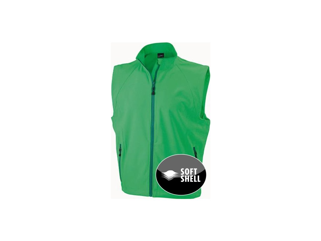 Pánská Softshell vesta (Barva Červená, Velikost oděvů XXL)