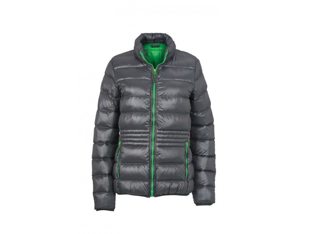 Dámská bunda Winter ultra lehká péřová šedá