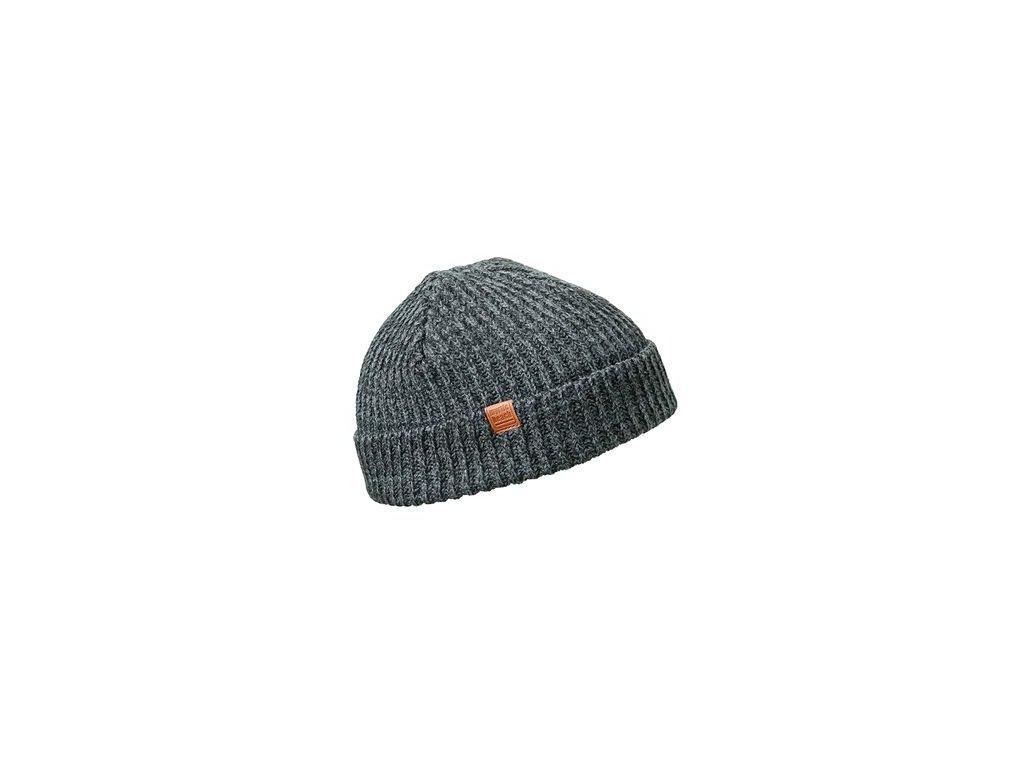 Melírovaná čepice v módním designu černá
