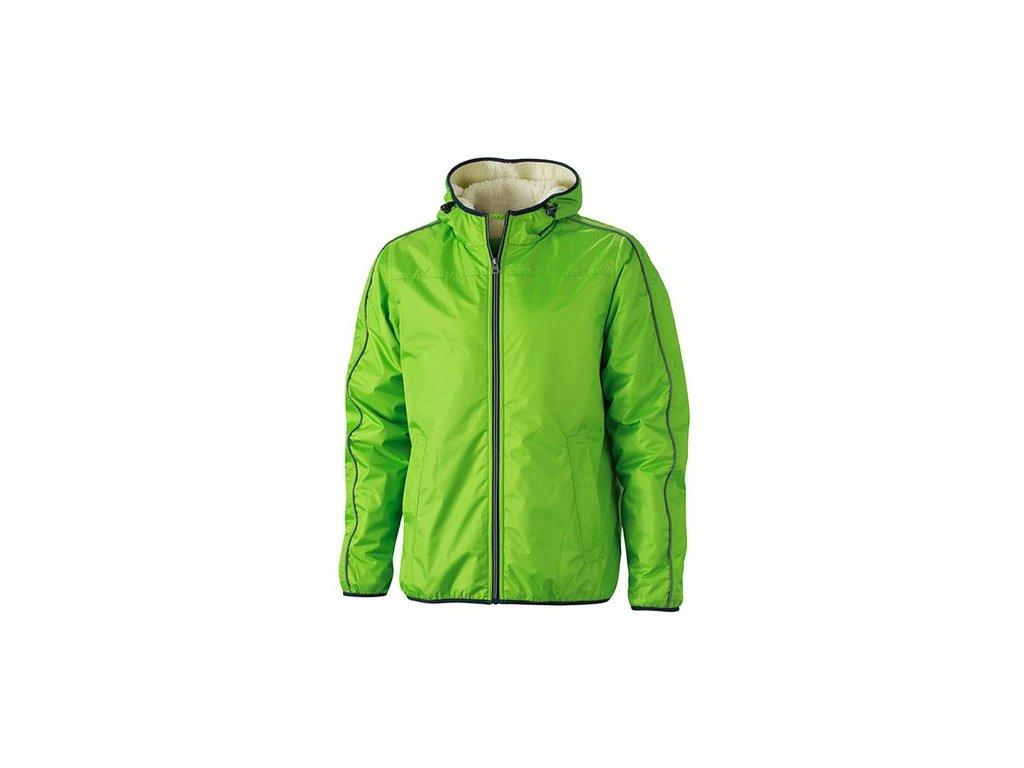 Pánská bunda WinSportovní zimní bunda pro volný čas s beránkem zelená