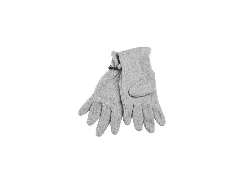 Teplé fleece rukavice šedá