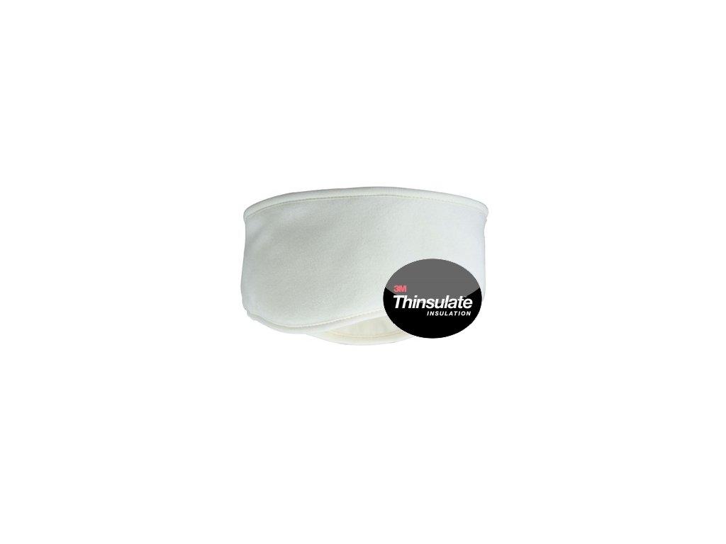 Teplá, tvarovaná čelenka s Thinsulate interlining bílá