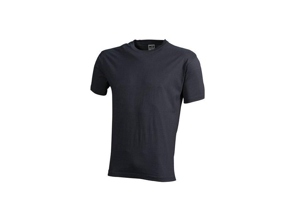caf8f60e062 ... Kvalitní odolné klasické pánské tričko v nadměrné velikosti carbon ...