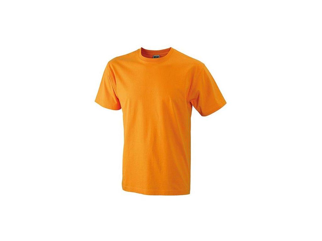 89d155447a0 Kvalitní odolné klasické pánské tričko v nadměrné velikosti oranžová