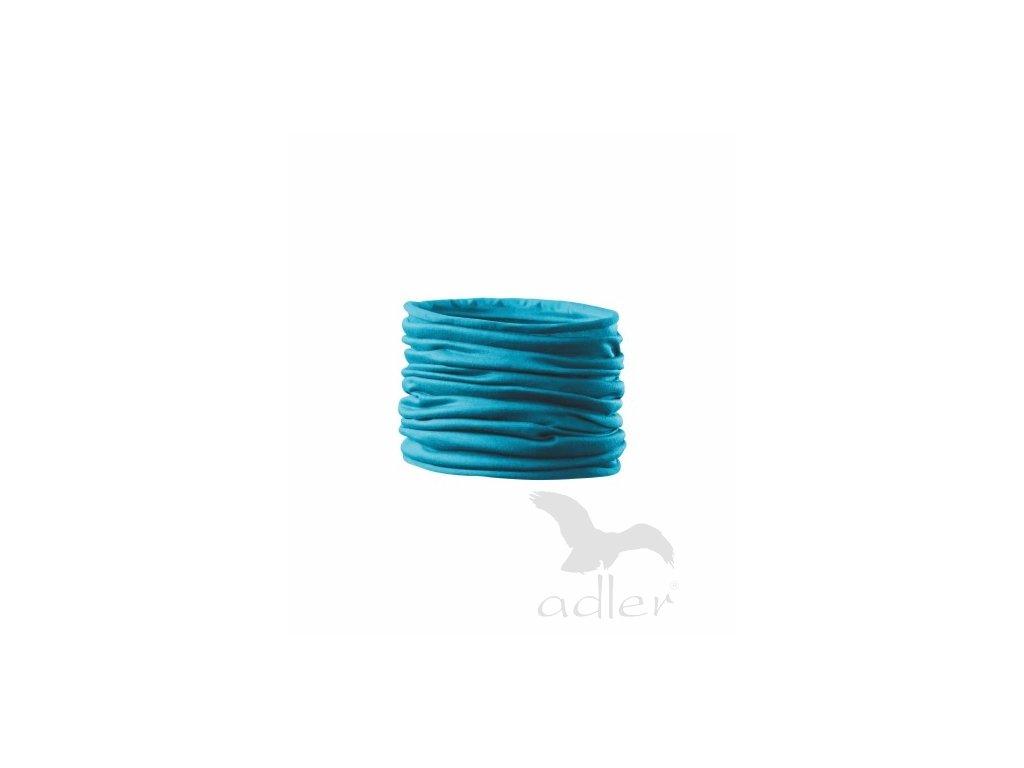 Tubulární víceúčelový šátek tyrkys