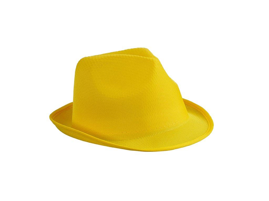 Lehký letní promo klobou v mnoha barvách - žlutá