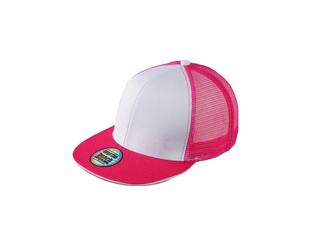 Vzdušná kšiltovka snapback ve vyšším profilu s rovným kšiltem růžová 0b2160fa71