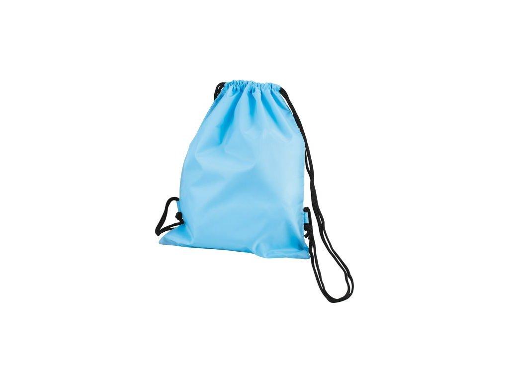 Polyesterový batoh na stahování světle modrá