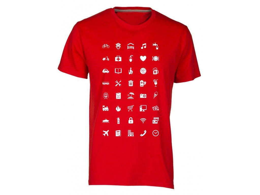 Tričko s cestovatelskými ikonami fashion royal · Tričko s cestovatelskými  ikonami fashion bílá · Tričko s cestovatelskými ikonami fashion červená ... 3d20a2c0f3