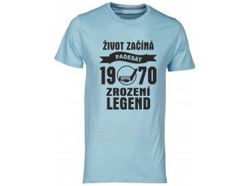 Tričko k 50 narozeninám s potiskem Život Začíná - padesát 1968 - Zrození Legend hokej navy