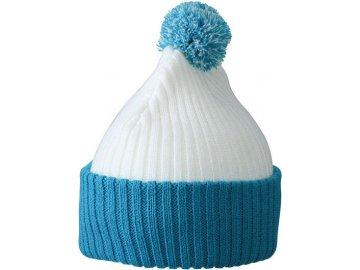 Zimní čepice - Knitted Cap with Pompon