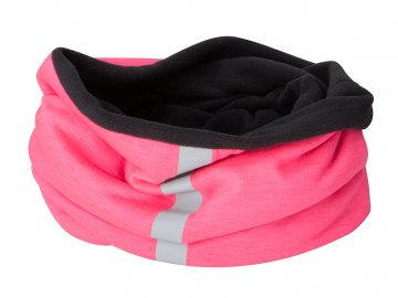Tubulární multifunkční šátek s reflexním pruhem, růžová