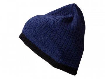 Čepice s kontrastním okrajem modrá