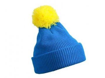 Zimní čepice - Pompon Hat with Brim