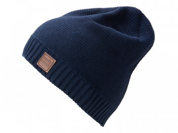 Trendy pletená čepice z bavlny modrá