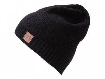 Trendy pletená čepice z bavlny černá