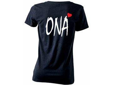 Dámské párové tričko ONA a srdce