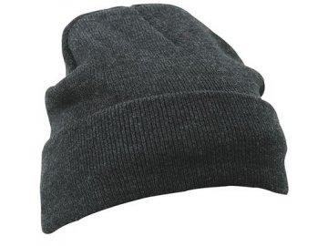 Teplá dvojitě pletená čepice s propojením Thinsulate černá