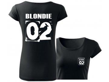 Dámské tričko BLONDIE 02 černá