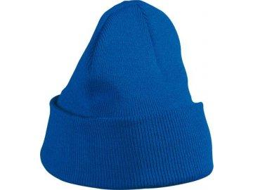 Tradiční dvojitě pletená čepice pro děti royal