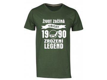 Tričko k 30 narozeninám s potiskem Život Začíná - třicet 1988 - Zrození Legend hokej šedá