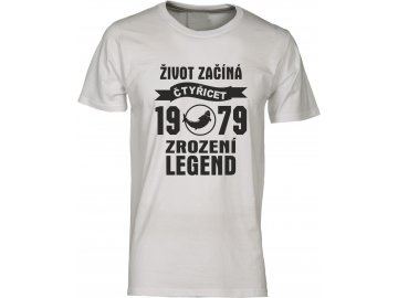 Tričko k 40 narozeninám s potiskem Život Začíná - čtyřicet 1978 - Zrození Legend rybař  camouflag