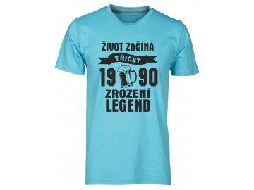 Tričko k 30 narozeninám s potiskem Život Začíná - třicet 1988 - Zrození Legend pivo atol