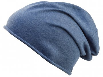 slabá čepice z Bio Bavlny v ležérním stylu Bio Cotton Beanie denim