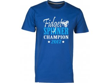 panske tričkos potiskem  champion fidget spinner royal