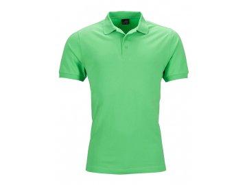 Pánská polokošile s elastanem zelená