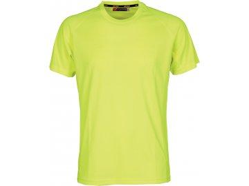 Dětské funkční sportovní tričko s raglánovými rukávy flou žlutá
