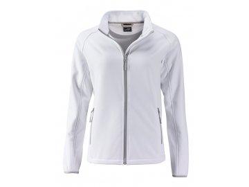 Příjemná měkká dámská softshellová bunda bílá