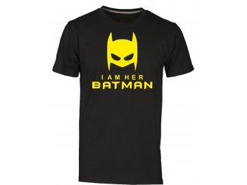 Páské tričko pro páry s potiskem batman cerna