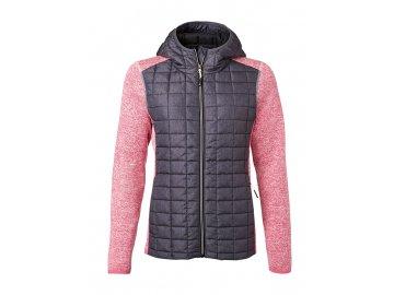Dámská bunda Knitted Hybrid růžová