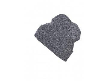 Dvojitě pletená melírovaná čepice v módním střihu šedá