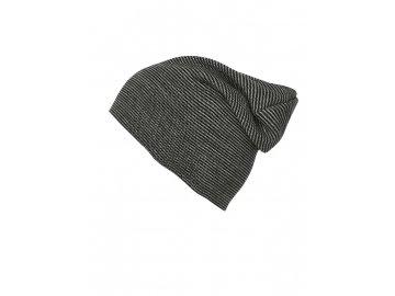 Čepice dvojitě pletená v moderním střihu černá