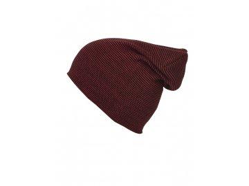 Čepice dvojitě pletená v moderním střihu červená