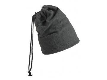 Fleecová čepice a šál v jednom grey