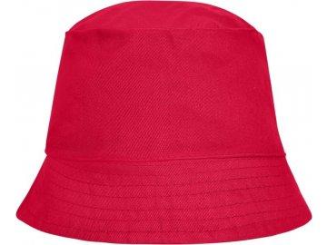 Jednoduchý plátěný klobouček červená