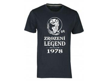 Pánské tričko s potiskem ZROZENÍ LEGEND se znamením VODNÁŘE navy